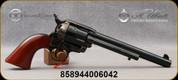 "Taylor's & Co - Uberti - 45LC - Model 1873 Cattleman Old Model Frame - 6 round Revolver - Military Cartouche Grip/Case Hardened Frame/Blued Finish, 7.5""Barrel, Mfg# 0514M00"