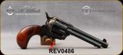 "Taylor's & Co - Uberti - 45LC - 1873 Birdshead Cattleman - Single-Action Revolver - Smooth Walnut Grips/Case Hardened Frame/Blued finish, 5.5""Barrel, Fixed Front Blade, Rear Frame Notch sights, Mfg# 0486"