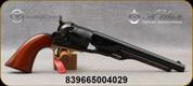 "Taylor's & Co - Uberti - 44Cal - 1860 Army - Black Powder, 6-Round Revolver - Walnut Grip/Case Hardened Frame/Brass Trigger Guard/Blued Finish, 8"" Barrel, Mfg# 310A"
