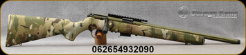 "Savage - 22WMR - Model 93 FV-SR - Multicam Camo Synthetic Varmint Stock/Bazooka Green Finish, 16.5""Threaded & Fluted Barrel, AccuTrigger, 5-round detachable box magazine, one-piece scope rail, Mfg# 93209"