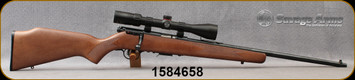 """Consign - Savage - 22WMR - Model 93 - Bolt Action Rimfire Rifle - Beechwwod Stock/Blued, 21""""Barrel - only 100 rounds fired - c/w Simmons Blazer, 3-9x40mm, Plex reticle"""