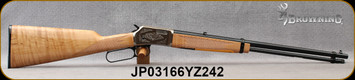 """Browning - 22S/L/LR - BL-22 Grade II Maple - Lever Action - Checkered Grade AAA Maple Straight-Grip Stock/Scroll Engraved Satin Nickel Receiver/Blued, 20""""Barrel, 15rd Tubular Magazine, Mfg# 024127103, S/N JP03166YZ242"""