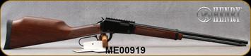 "Henry - 22WMR - Magnum Express - Lever Action Rifle - American Walnut Forend/Stock/Black Finish, 19.25"" Barrel, 11 Round Tubular Magazine, Picatinny Rail, Mfg# H001ME, S/N ME00919"