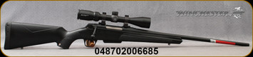 """Winchester - 7mm-08Rem - XPR Scope Combo - Bolt Action Rifle - Black Composite Stock/Matte Blued Perma-Cote, 22""""Barrel, 3 round Detachable Magazine, Vortex Crossfire II 3-9x40 with BDC reticle, Mfg# 535705218"""