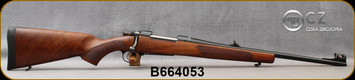 """Used - CZ - 243Win - Model 557 Carbine with sights - Bolt Action Rifle - Grade AA Turkish Walnut/Blued, 20.5""""Barrel, Hinged Floorplate, Mfg# 5574-4901-MFTADAX - Very low rounds fired - in original box"""