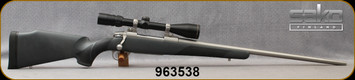"""Used - Sako - 300WM - Model 75 Stainless - Grey Synthetic w/soft-touch panels/Matte stainless, 23 5/8""""Barrel, c/w Optilocks, Bausch & Lomb, Elite 4000, 2.5-10x40mm, Plex reticle"""