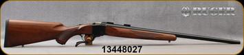 """Ruger - 243Win - 1-V - Varminter - American Walnut Stock/Satin Blued, 26""""Heavy Barrel, 1:7.7"""" Twist, MFG# 21300, S/N 13448027"""