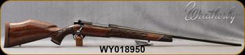 "Weatherby - 257WbyMag - Mark V Lazermark - Five-Panel Limited Edition - Select Claro Walnut w/Rosewood caps & Maple Spacers/High Lustre Blued, 26""Barrel, LXX Trigger, Mfg# MLMM257WR6O, S/N WY018950"