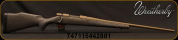 "Weatherby - 25-06Rem - Vanguard Weatherguard Bronze - Black Base Polymer Stock w/Bronze Webbing/Burnt Bronze Cerakote, 24""Threaded #2 Contour Barrel, 5+1 Hinged Floorplate, Mfg# VWB256RR4T"