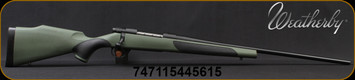 """Weatherby - 223Rem - Vanguard Synthetic Green - Bolt Action Rifle - Greeen Monte Carlo Griptonite Synthetic Stock w/Black Touch Panels/Matte Blued Finish, 24""""Barrel #2 Contour, 5 Round Hinged Floorplate, Mfg# VGY223RR4O"""