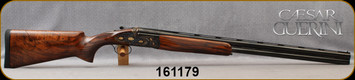 """Consign - Caesar Guerini - 12Ga/2.75""""/30"""" - Essex Limited Gold Sporting (Limited Edition) - 1 of 30 - Deluxe grade Turkish walnut/Case colored receiver w/white, rose & yellow gold subjects framed by English scroll engraving/Blued vent-Rib barrels,"""