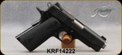 "Used - Kimber - 9mm - Pro Carry II - Semi-Auto Pistol - Black synthetic, double-diamond checkered grips/Matte Black Finish, 4.2""Carbon steel barrel, match grade aluminum trigger - in original case"