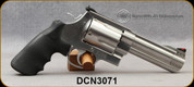 """Consign - Smith & Wesson - 460S&W - 460V - Double/Single Action Revolver - Black Synthetic Grips/Satin Stainless Finish, 5""""Barrel, Mfg# 163465 c/w 2 barrel compensators, very low rounds fired - In original case"""