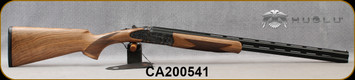 """Huglu - 28Ga/3""""/26"""" - 103FE - O/U w/Ejectors - Grade AA Turkish Walnut w/Schnabel Forend/Case Hardened Receiver w/ Gr5 Hand engraving/Chrome-Lined Barrels, SKU# 8682109405379-2, CA200541 - Crack in interior only of case(pictured) - No outer box"""
