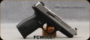 """Consign - Smith & Wesson - 9mmLuger - SD9 VE - DA Semi-Auto Pistol - Black Polymer Frame/stainless-steel slide & barrel, 4.25""""Barrel, Back Plate by Striker, c/w (2)10rd magazines - Only 1 box of shells ever fired"""