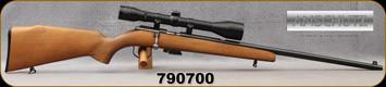 "Consign - Anschutz - 22LR - Model 1400 - Hardwood Stock/Blued, 22""barrel, 5rd detachable magazine, c/w Ed Kettner 6x40mm Scope, #4 Reticle, 1""High Dovetail rings"