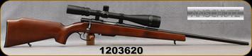 "Consign - Anschutz - 222Rem - Model 1530-1534 - Walnut Stock/Blued, 23""barrel, Double Set triggers, Detachable magazine, c/w Tasco 6-24x40mm, MilDot Reticle - Low rounds fired"