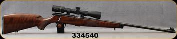 "Consign - Krico - 22LR - Model 420 Deluxe - Walnut Stock w/Schnabel Ebony Forend Tip/Blued, 25""Barrel, Double Set Triggers, Detachable Magazine - Low Rounds fired - c/w Burris Droptine Rimfire, 3-9x40mm, Ballistic Plex"