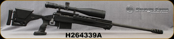 """Consign - Savage - 338Lapua - Model 110 BA - Black Aluminum Modular Stock/Chassis/Blued, 26""""Fluted Barrel, Muzzle Brake - Less than 100 rounds fired, c/w Nightforce NXS, 8-32x56mm, NP-R2 Reticle"""