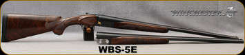 """Consign - Winchester - 20Ga/3""""/25.5"""" - 28Ga/2.75""""/25.5"""" - Model 23 Hunt Set - SxS - Set 5 of 500 - Grade V Walnut w/Engraving Medallion & Semi-Beavertail Forend/Engraved Receivers/Blued Finish w/Gold Inlay - Very low use - in fitted leather case"""