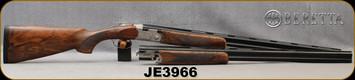 "Consign - Beretta - 20Ga/3""/28"" - 28Ga/2.75""/28"" - 687 Silver Pigeon III - Joel Eschten Custom 2-Barrel Set - EELL Walnut w/Engraving medallion & Schnabel Forend/Coin Finish Engraved Receiver/Blued Barrels, 5pcs chokes per barrel - in fitted case"