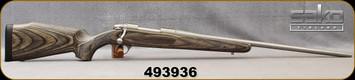 "Used - Sako - 270WSM - Laminated Stainless - Bolt Action Rifle - Grey Laminate Stock/Stainless, 24.3""Barrel, c/w (2)magazines, 1""optilocks & bases - In non-original box"