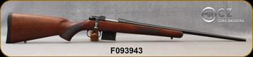 "CZ - 7.62x39 - Model 527 American - Bolt Action Rifle - American Style Turkish Walnut Stock/Blued, 21.875"" Barrel, 5 Round Detachable Magazine, No Sights-Integrated 16mm Scope Base, Mfg# 5274-7305-MFAKABX, S/N F093943"