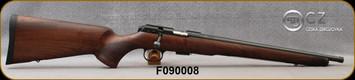 "CZ - 22LR - Model 457 Royal - Bolt Action Rifle - Upgraded Turkish Walnut Stock/Blued Finish, 16""Threaded Barrel, 5 Round Detachable Magazine, 5084-8084-HKAMEAX, S/N F090008"