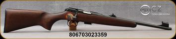 "CZ - 22LR - Model 457 Scout - Bolt Action Rimfire Rifle - Beechwood Stock/Blued Finishe, 16.5""Threaded(1/2x28) Barrel, Adjustable Rifle Sights, Integrated 11mm Scope Base, Mfg# 5084-8054-SARMVA5"