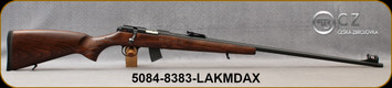 "CZ - 22LR - Model 457 Jaguar XII - Bolt Actiion Rimfired Rifle - Beechwood Stock/Blued, 28.6""Threaded(1/2x20) Barrel, 10rd Detachable Magazine, Mfg# 5084-8383-LAKMDAX"