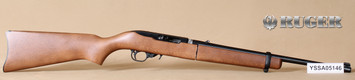 """Consign - Ruger - 22LR - Model 10/22 Takedown - Hardwood Stock/Blued, 18.5""""Barrel, Backpack style bag - New in original box - c/w (6) flush-fit rotary magazines"""