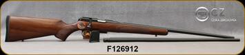 "CZ - 22LR/17HMR - 457 American Combo - Turkish Walnut Stock/Blued Finish, 24.8"" Barrels, 5 Round Magazines, SKU: 806703023205, Mfg# 5085-XA02-MAAMAA5 S/N F126912"