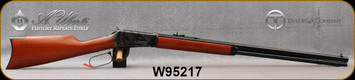 "Taylor's & Co - Uberti - 30-30Win - Model 1894 Rifle - Lever Action - Walnut Stock/Case Hardened Frame, Hammer & Lever/Blued, 26""Octagonal Barrel, Mfg# 2904, S/N W95217"