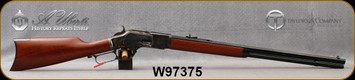 """Taylor's & Co - Uberti - 32-20Win - 1873 Straight Grip Rifle  - Lever Action - Walnut Stock/Case Colored Frame/Blued Finish, 24.25""""Octagon Barrel, Mfg# 0255, S/N W97375"""