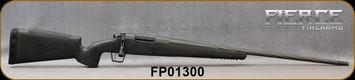 "Fierce - 6.5PRC - Twisted Rival - Blackout Fierce Tech C3 carbon fiber stock w/Black Claw/Tungsten Cerakote, 24""Threaded Spiral fluted, match grade stainless steel barrel, Radial Muzzle Brake, Integral Bi-Pod Rail, S/N FP01300"