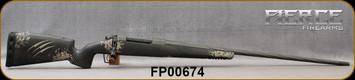 "Fierce - 28Nosler - Twisted Rival - Urban Camo Fierce Tech C3 carbon fiber stock w/Tan Claw/Grey Cerakote, 26""Threaded Spiral fluted, match grade stainless steel barrel, Radial Muzzle Brake, Integral Bi-Pod Rail, S/N FP00674"