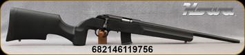 "Howa - 17HMR - Model 1100 - Black Tactical/Varmint Style Synthetic Stock/Blued, 18""Threaded Barrel, Oversize Tactical Bolt Handle, (2)10rd Detachable Mags, Mfg# HRF17HMRB"