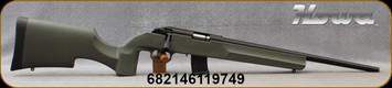 "Howa - 22WMR - Model 1100 - OD Green Tactical/Varmint Style Synthetic Stock/Blued, 18""Threaded Barrel, Oversize Tactical Bolt Handle, (2)10rd Detachable Mags, Mfg# HRF22WMRG"