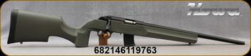 "Howa - 17HMR - Model 1100 - OD Green Tactical/Varmint Style Synthetic Stock/Blued, 18""Threaded Barrel, Oversize Tactical Bolt Handle, (2)10rd Detachable Mags, Mfg# HRF17HMRG"