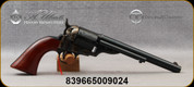 """Taylor's & Co - 45LC - Model 1860 Open Top Army  - Single Action Revolver - Walnut Army Grips/Case Hardened Frame & Hammer/Engraved Receiver,Blued Finish, 7.5""""Barrel, Mfg# 0916"""