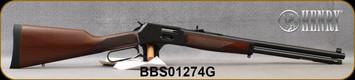 "Henry - 44Mag/44Spl - Big Boy Steel Side Gate - Lever Action - American Walnut/Blued Steel Frame/Blued Finish, 20""Round Barrel, Brass Bead Front Sight, Fully Adj. Semi-Buckhorn w/ Diamond Insert rear sight, Mfg# H012G, S/N BBS01274G"
