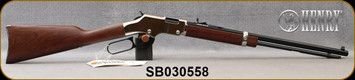 """Henry - 22S/L/LR - Golden Boy Silver - Lever Action Rifle - American Walnut Stock/Nickel Plated Receiver/Blued, 20"""" Barrel, 16 Rounds, Mfg# H004S, S/N SB030558"""