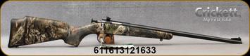 "Keystone - Crickett - 22LR - Crickett Package - Youth Single Shot - Bolt Action Rimfire Rifle - Mossy Oak Break up Camo(MOBU)Synthetic Stock/Blued Finish, 16.125""Barrel, Scope and Case, Mfg# KSA2163BSC"