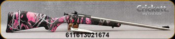 "Keystone - Crickett - 22LR - Youth Single Shot - Bolt Action Rimfire Rifle - Muddy Girl Camo Synthetic Stock/Matte Stainless Finish, 16.125""Barrel, Mfg# KSA2167"