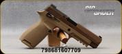 "SIG Sauer - 9mmLuger - Model P320-M17 Full Size - Semi Auto Pistol - Modular Polymer Grip, Coyote Tan Finish, 4.7"" Barrel, (3) 10 Round magazines, SIGLITE Sights, Manual Safety, Mfg# 320F-9-M17-MS-10"