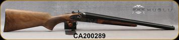 "Huglu - 12Ga/3""/20"" - 201HRZ - Sidelock Hammer Gun - Grade AA Standard Grip Turkish Walnut/Case Hardened Receiver/Chrome-Lined Barrels, Double Trigger, SKU# 8681715392202-2, S/N CA200289"