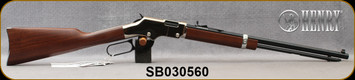 """Henry - 22S/L/LR - Golden Boy Silver - Lever Action Rifle - American Walnut Stock/Nickel Plated Receiver/Blued, 20"""" Barrel, 16 Rounds, Mfg# H004S, S/N SB030560"""