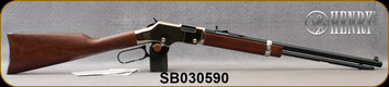 """Henry - 22S/L/LR - Golden Boy Silver - Lever Action Rifle - American Walnut Stock/Nickel Plated Receiver/Blued, 20"""" Barrel, 16 Rounds, Mfg# H004S, S/N SB030590"""