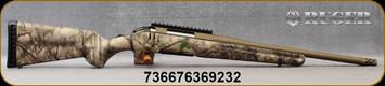"Ruger - 243Win - American - Go Wild Camo I-M Brush/Burnt Bronze Cerakote, 16.1""Threaded(5/8""-24) Barrel, Ruger Marksman Adjustable trigger, Factory-installed, one-piece Picatinny scope base, Mfg# 36923"