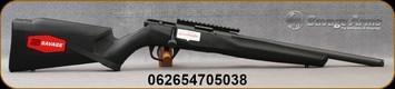 "Savage - 22WMR - Model B22 FV-SR - Bolt Action Rimfire Rifle - Black Synthetic Stock/Black Finish, 16.25""Heavy Threaded Barrel, 10 Round Detachable magazine, Mfg# 70503"